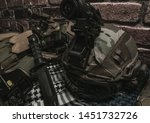 military equipman and weapons...   Shutterstock . vector #1451732726