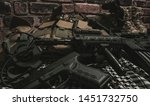 military equipman and weapons...   Shutterstock . vector #1451732750