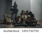 military equipman and weapons...   Shutterstock . vector #1451732753