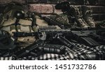 military equipman and weapons...   Shutterstock . vector #1451732786