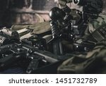 military equipman and weapons...   Shutterstock . vector #1451732789