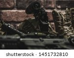 military equipman and weapons...   Shutterstock . vector #1451732810