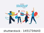happy friendship day greeting... | Shutterstock .eps vector #1451734643
