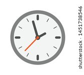 analog clock flat vector icon.... | Shutterstock .eps vector #1451738546