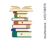 heap of books icon. brochures... | Shutterstock .eps vector #1451738570