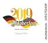 oktoberfest 2019 german...   Shutterstock .eps vector #1451752439