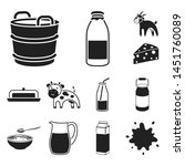 milk product black icons in set ...   Shutterstock . vector #1451760089