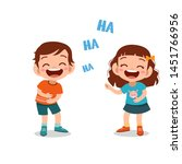 kids children laughing together ... | Shutterstock .eps vector #1451766956