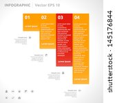 infographic template   color  ... | Shutterstock .eps vector #145176844