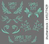 set of symmetrical floral... | Shutterstock .eps vector #145177429