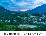 panoramic view of bad ischl in... | Shutterstock . vector #1451774699