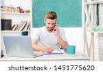 man use modern technology.... | Shutterstock . vector #1451775620