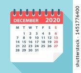 december 2020 calendar leaf  ...   Shutterstock .eps vector #1451776400