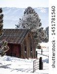 Rustic Barn In Idaho\'s Snowy...