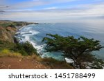 scenic view to the pacific... | Shutterstock . vector #1451788499
