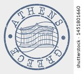 athens greece stamp. pantheon... | Shutterstock .eps vector #1451801660