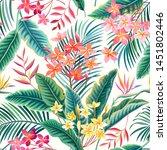 seamless floral vector.... | Shutterstock .eps vector #1451802446