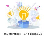 lamp pops out of the cardboard...   Shutterstock .eps vector #1451806823