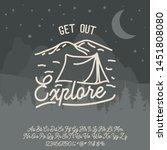 explore logo and script font....   Shutterstock .eps vector #1451808080
