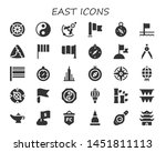 east icon set. 30 filled east...   Shutterstock .eps vector #1451811113