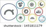 sunny icon set. 9 filled sunny... | Shutterstock .eps vector #1451811179