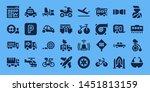 Vehicle Icon Set. 32 Filled...