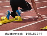 sprint position | Shutterstock . vector #145181344
