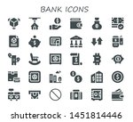 bank icon set. 30 filled bank... | Shutterstock .eps vector #1451814446