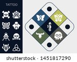 tattoo icon set. 13 filled...   Shutterstock .eps vector #1451817290