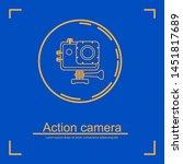 action camera. vector icon...