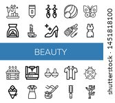 set of beauty icons such as... | Shutterstock .eps vector #1451818100