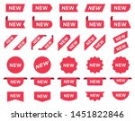 new label and tag. sticker with ... | Shutterstock .eps vector #1451822846