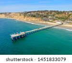 aerial view of the scripps pier ... | Shutterstock . vector #1451833079