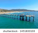 aerial view of the scripps pier ... | Shutterstock . vector #1451833103