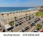 aerial view of parking lot with ... | Shutterstock . vector #1451836160