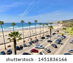 aerial view of parking lot with ... | Shutterstock . vector #1451836166
