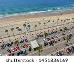 aerial view of parking lot with ... | Shutterstock . vector #1451836169