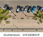 aerial top view of parking lot... | Shutterstock . vector #1451838419