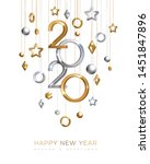 christmas and new year banner... | Shutterstock .eps vector #1451847896