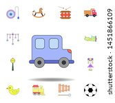 cartoon toy car colored icon....