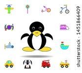 cartoon penguin toy colored...