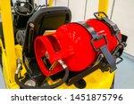 Gas Cylinder On The Forklift. ...