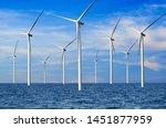 Wind Turbine Farm Power...