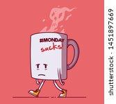 sad coffee mug vector...   Shutterstock .eps vector #1451897669