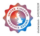 united kingdom low poly logo.... | Shutterstock .eps vector #1451923139