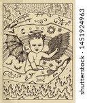 demon child. mystic concept for ... | Shutterstock .eps vector #1451924963