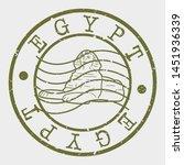 egypt stamp. sphinx silhouette... | Shutterstock .eps vector #1451936339