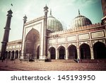famous jama masjid mosque in... | Shutterstock . vector #145193950