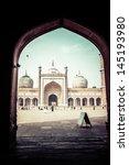 famous jama masjid mosque in... | Shutterstock . vector #145193980