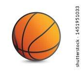 Basketball Vector Icon Isolate...